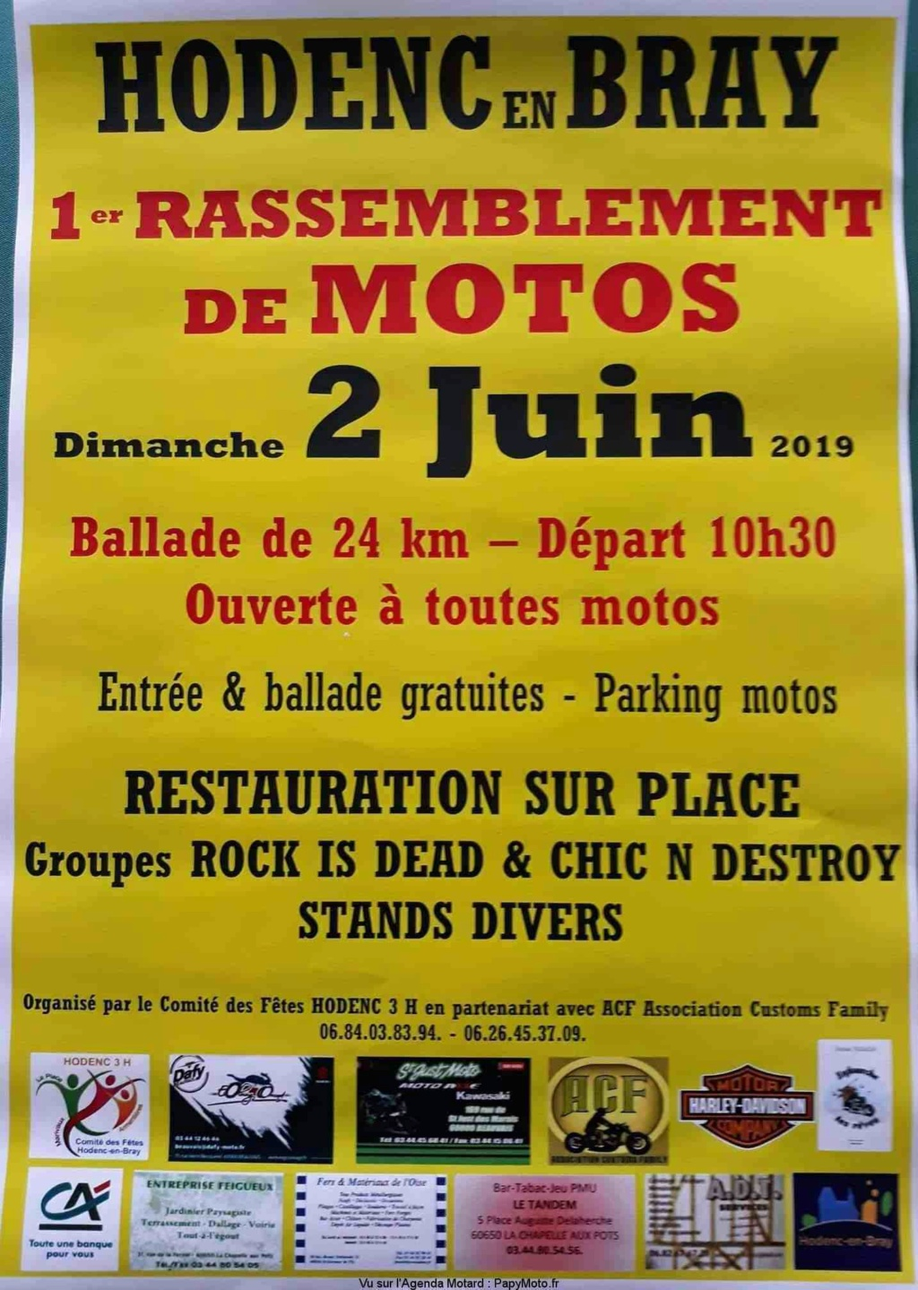 MANIFESTATION - Rassemblement Motos - 2 Juin 2019 - Hodenc en Bray 1er-ra11