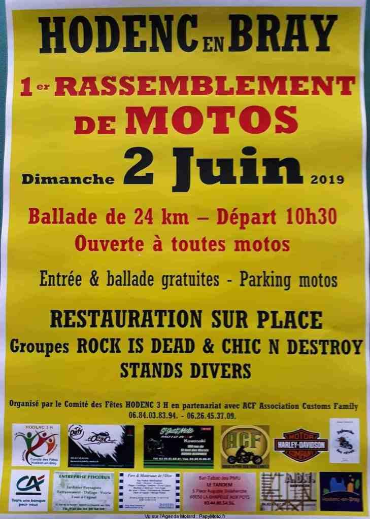 MANIFESTATION - Rassemblement de Motos - Dimanche 2 Juin 2019 - Hodenc en Bray (60) 1er-ra12