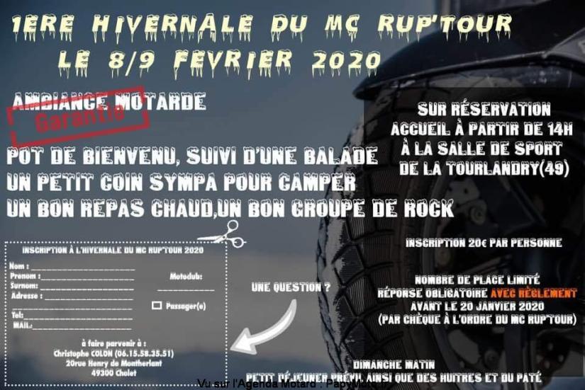 MANIFESTATION - Hivernale du MC RUP'TOUR - 8 & 9 Février 2020 - Tourlandry (49) 1ere-h11