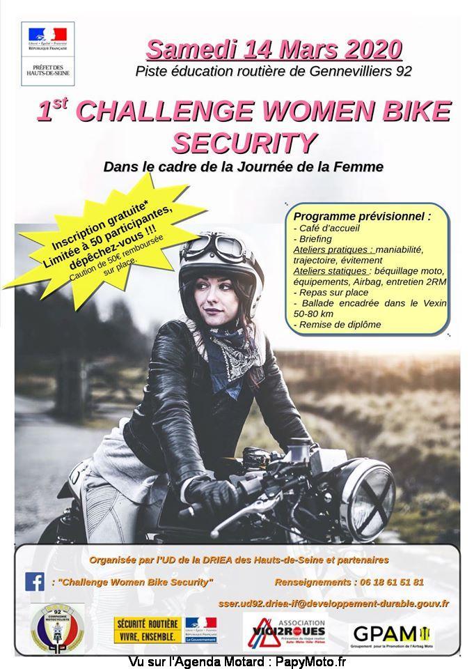 MANIFESTATION - Challenge Women Bike Security - 14 Mars 2020 - Gennevilliers (92) 1st-ch10