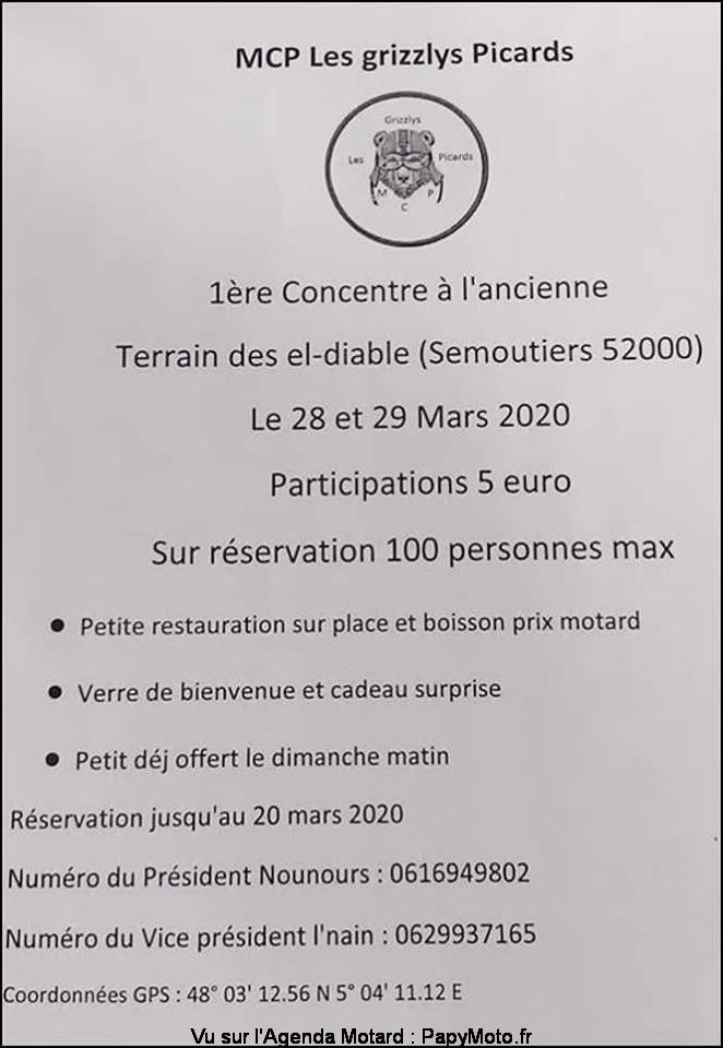 MANIFESTATION  -  1ère Concentre à L'ancienne  - 28 & 29 Mars 2020 - Semoutiers (52000) 1zore-11