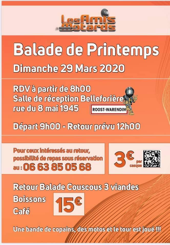 MANIFESTATION   - Balade de Printemps - Dimanche 29 Mars 2020 - Roost-Waredin ( nord 59 ) 20022211