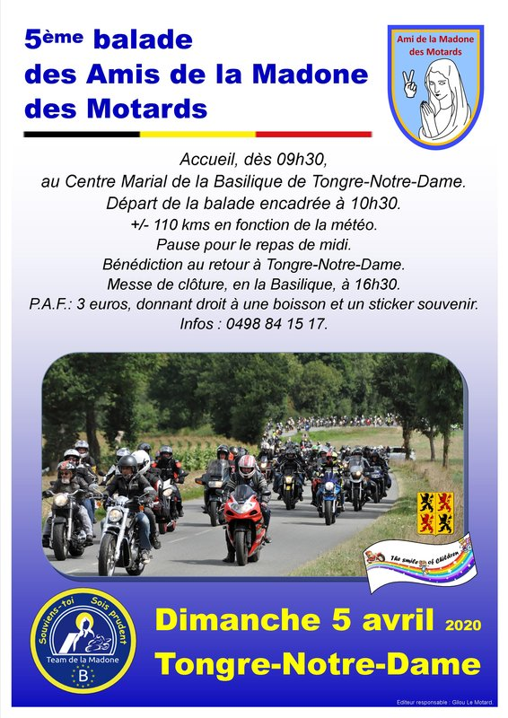 MANIFESTATION - Balade - Dimanche 5 Avril 2020 - Tongre-Notre-Dame  ( Belgique ) 20022310