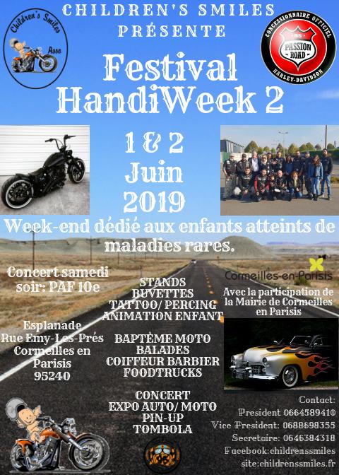 MANIFESTATION - Festival Handi Week 2 -  1er et 2 Juin 2019 - Parisis - (95240) 20190411
