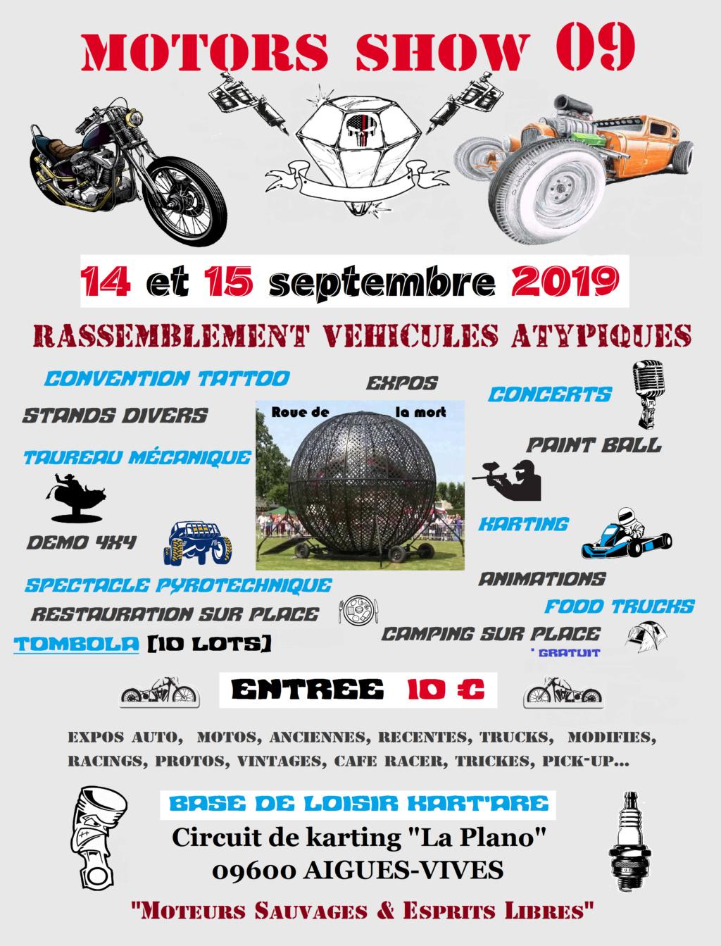 MANIFESTATION - Motors Show 09  - 14 & 15 Septembre 2019 - Aigues - Vives -(09600)  2019af10