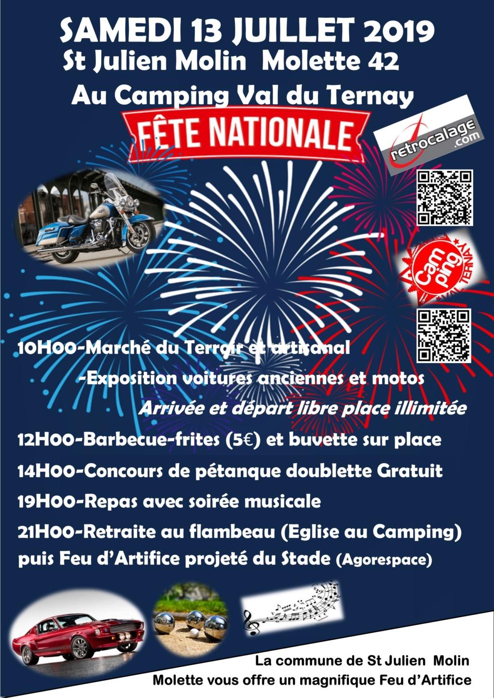 MANIFESTATION - FETE NATONALE - Samedi 13 Juillet 2019 - St Juilien Molin Molette (42) 2019av10