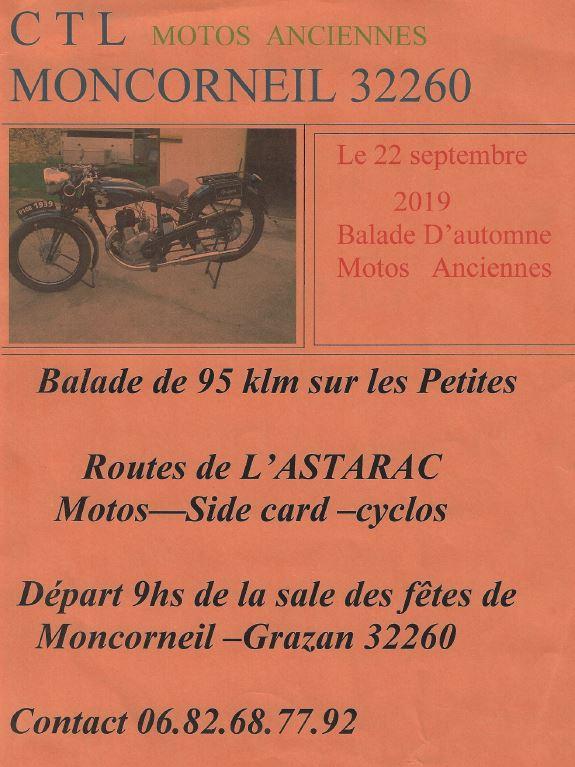 MANIFESTATION - Balade D'automne Motos Anciennes - 22 Septembre 2019 - Moncorneil (32260) 2019ct10