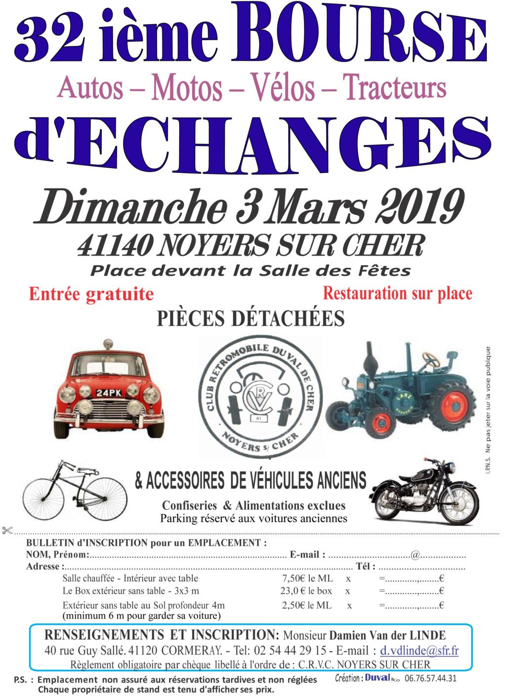 Bourse -  dimanche 3 mars 2019 - Noyers sur Cher (41140) 2019no10