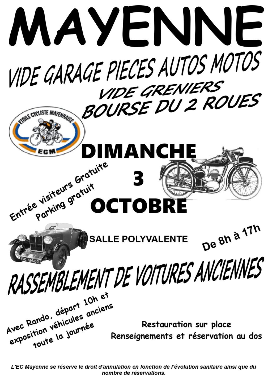 MANIFESTATION - Bourse du 2 Roues & Vide Greniers - Dimanche 3 Octobre 2021 - Mayenne (53) 2021bo10