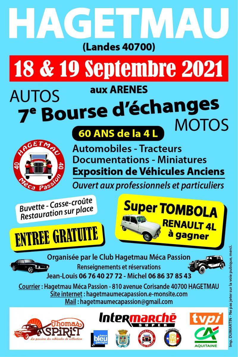 MANIFESTATION - Bourse d'échanges Motos Autos - 18 & 19 Septembre 2021 - Landes (40700) 21061310