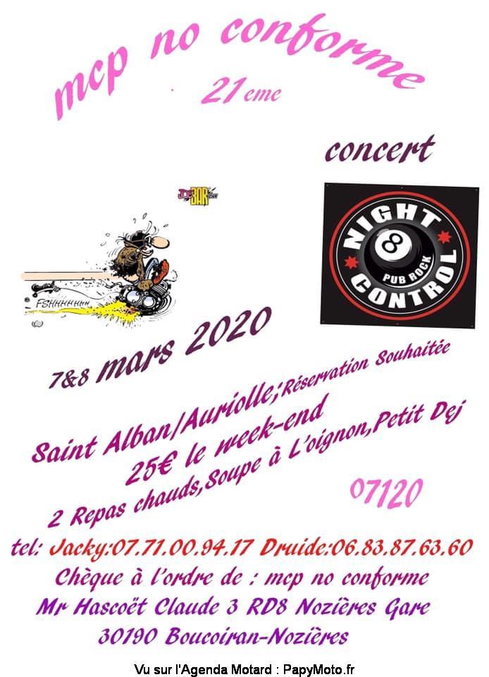 MANIFESTATION  - 21ème concentration - 7 & 8 Mars 2020 - Saint Alban / Auriolle ( 07120) 21e-co10