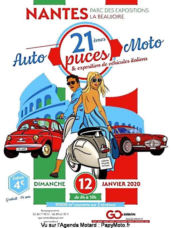 MANIFESTATION - puces auto Moto - Dimanche  12 Janvier 2020 - Nantes  21e-pu10