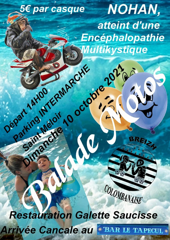MANIFESTATION - Balade Motos  - Dimanche 10 Octobre 2021 - Saint Méloir 22000610