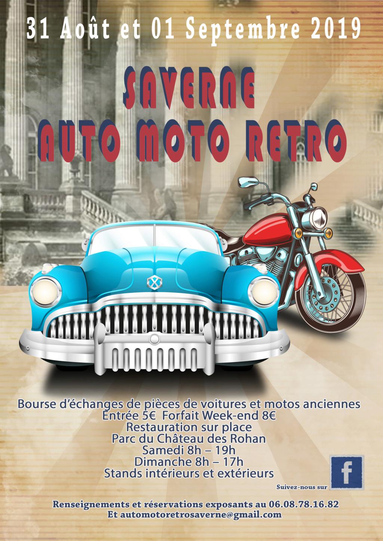 MANIFESTATION - Auto Moto Rétro - 31 AOUT & 1er Septembre 2019 -  Saverne (67700) 22100812