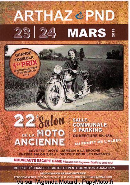 22éme Salon de la Moto Ancienne - 23 & 24 Mars 2019 - ARTHAZ- Pont -Notre -dame -(74) 22e-sa10