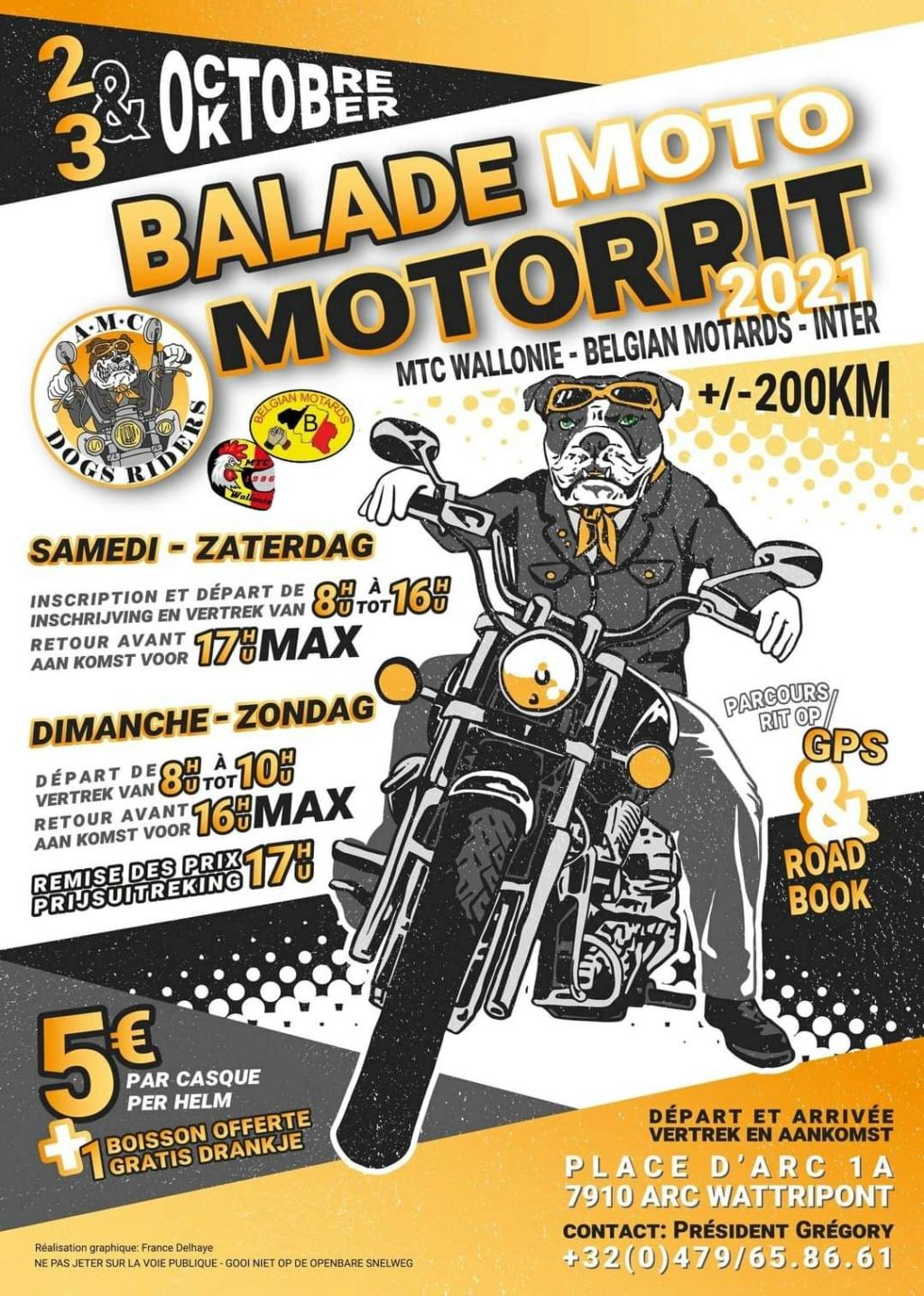 MANIFESTATION - Balade Moto MOTORRIT 2021 -  2 & 3 Octobre 2021 - Arc Wattripont (7910) BELGIQUE  24045010