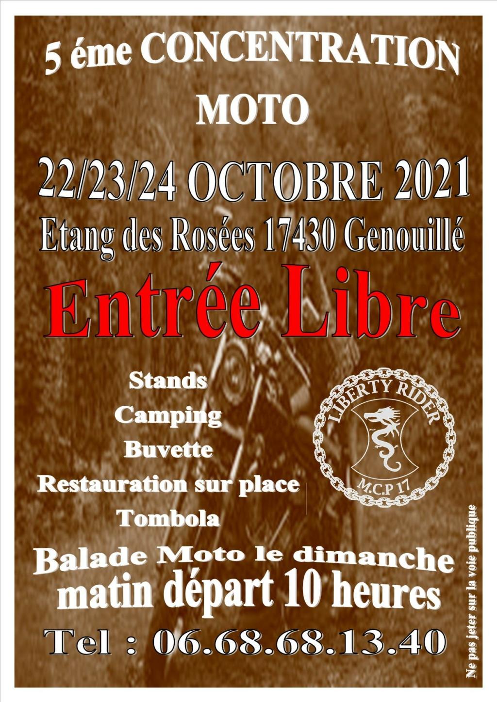 MANIFESTATION - 5éme Concentration Moto  - 22 - 23 - 24 Octobre 2021 -  Genouillé  (17430 ) 24318210