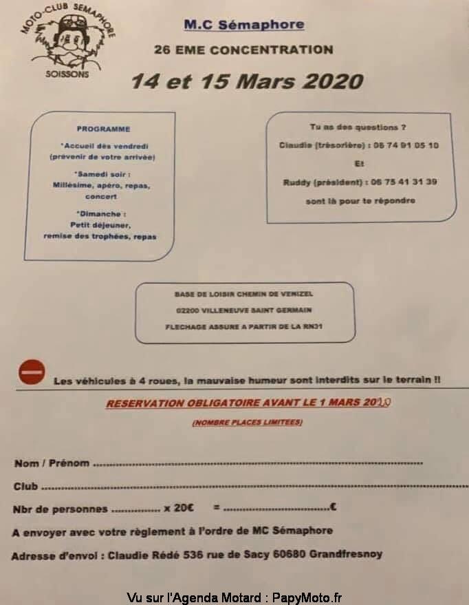MANIFESTATION - 26 ème Concentration - 14 & 15 Mars 2020 - Villeneuve St Germain (02200) 26e-co12