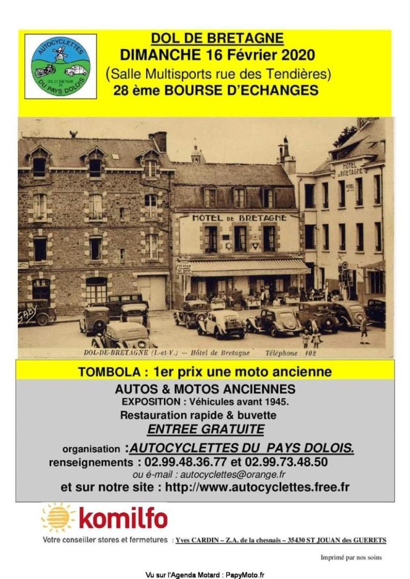 MANIFESTATION - 28 ème Bourse D'Echanges - 16 Février 2020 - Dol De Bretagne (35) 28e-bo10