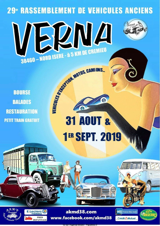 MANIFESTATION - Rassemblement de Véhicules Anciens - 1er Septembre 2019 - Verna (38460) 29e-ra10