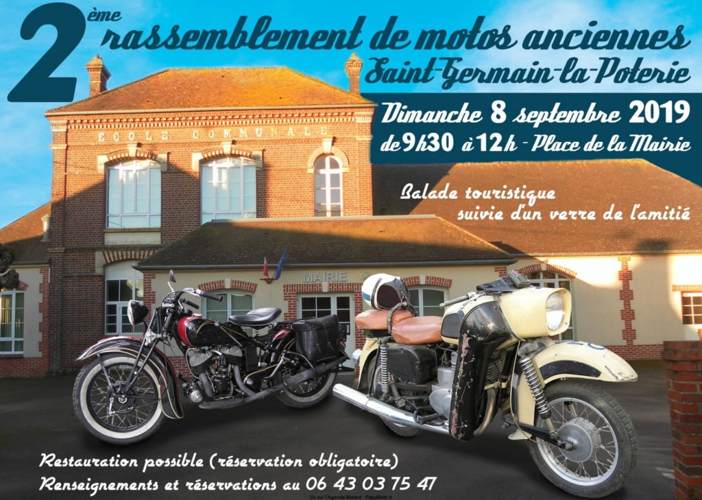 MANIFESTATION - 2ème Rassemblement Motos Anciennes - 8 Septembre 2019 - Saint Germain La Poterie 2e-ras12