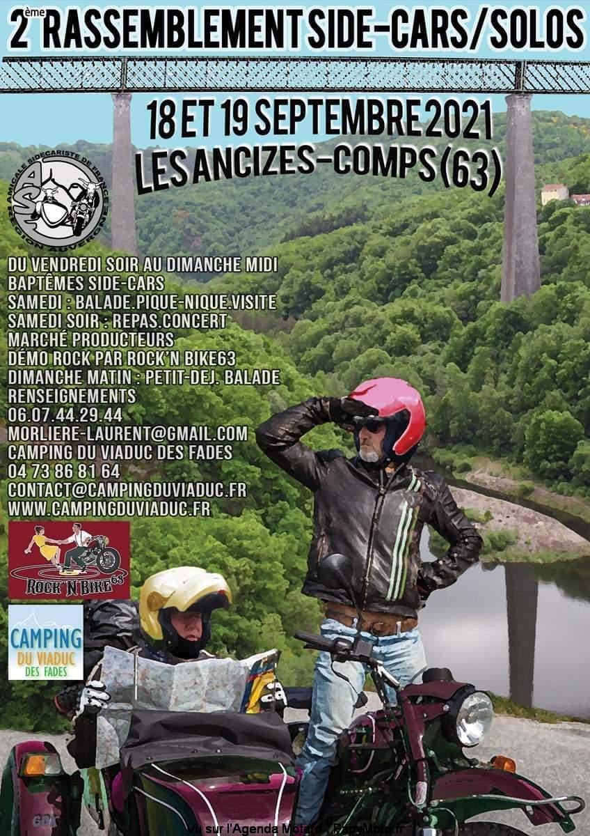 MANIFESTATION - 2ème Rassemblement Side-Car/ Solos - 18 & 19 Septembre 2021 - Les Ancizes-Comps (63) 2e-ras16