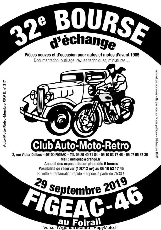 MANIFESTATION - 32ème Bourse D'échange - 29 Septembre 2019 -Figeac -(46) 32e-bo10