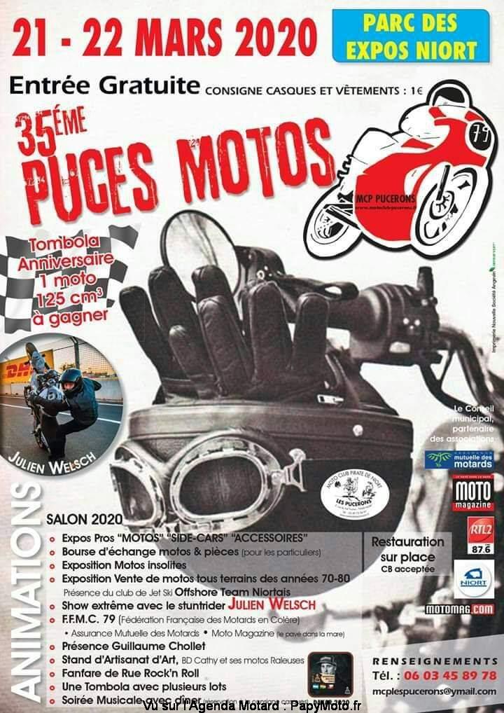 MANIFESTATION  - 35ème Puces Motos - 21 & 22 Mars  2020 - Parc des Expos Niort  35e-pu10