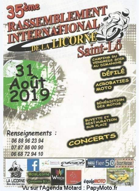 MANIFESTATION - Rassemblement International - 31 AOUT  2019 - Saint Lô 35e-ra10