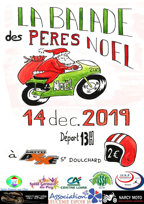 MANIFESTATION - Balade des Pères Noel - 14 Décembre 2019 - Saint - Doulchard  44860_10