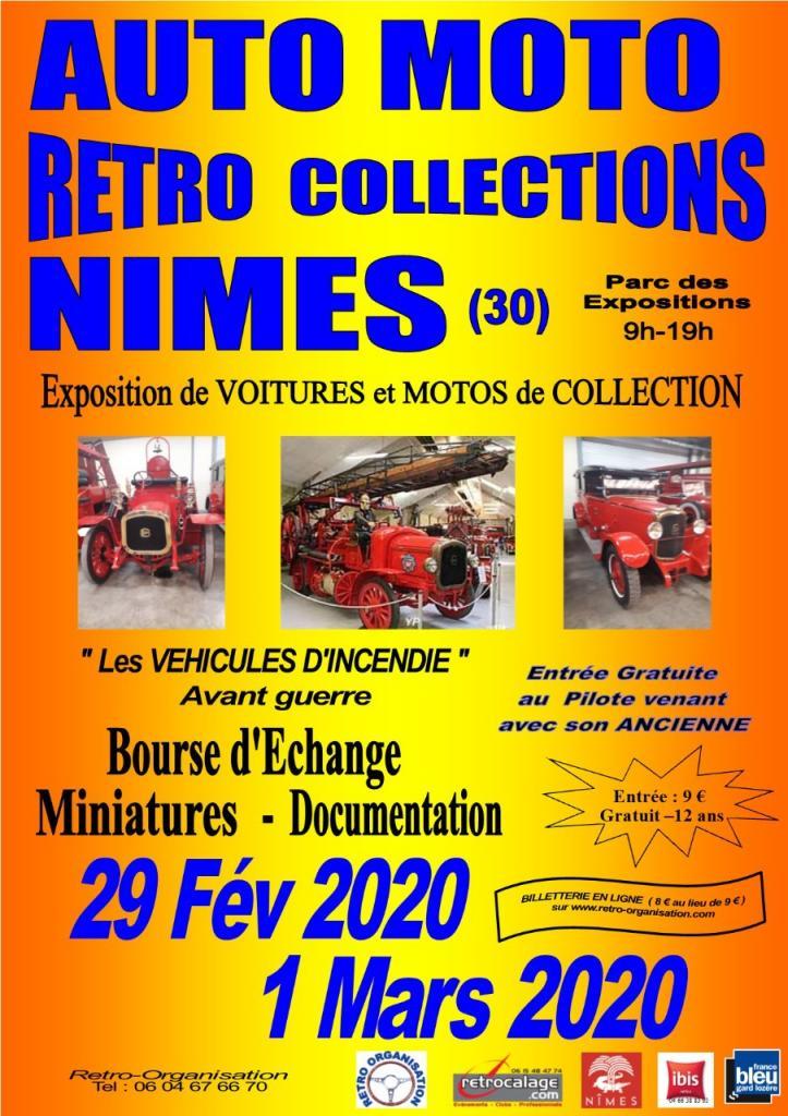 MANIFESTATION - Auto Moto Rétro Collections - 29 Février & 1er Mars 2020 - Nimes (30) 47146e10