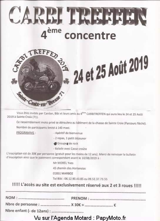 MANIFESTATION - 4ème Concentre - 24 & 25 AOUT  2019 - Saint Croix en Bresse (71) 4e-con11
