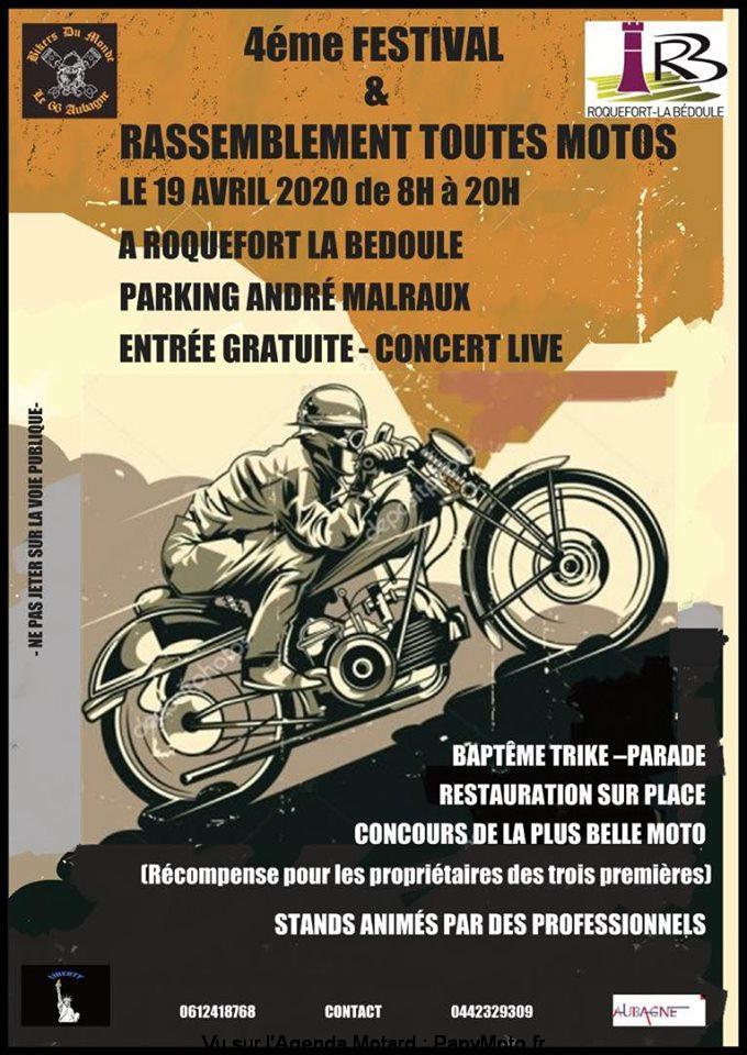 MANIFESTATION  - Rassemblement toutes Motos - 19 Avril 2020 - Roquefort La Bedoule  4e-fes14
