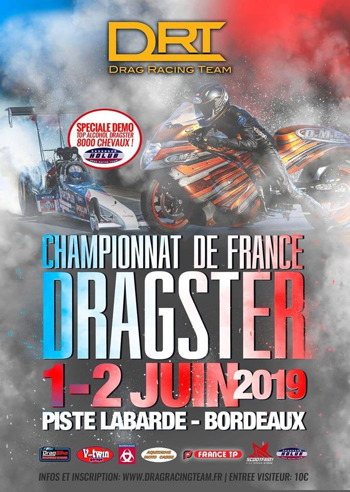 MANIFESTATION - Championnat de France DRAGSTER - 1 & 2 Juin 2019 - Bordeaux 57459310