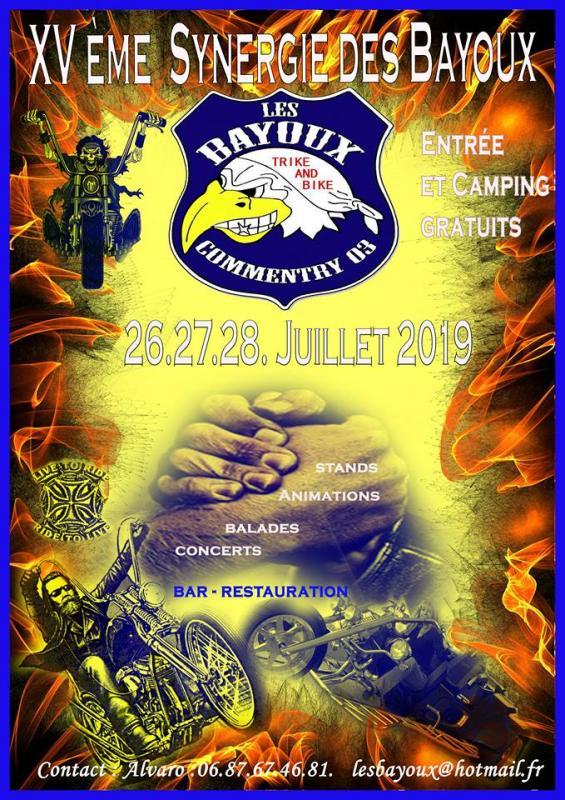 MANIFESTATION - XV éme Synergie des Bayoux - 26-27-28 Juillet 2019 - Commentry (03) 57895110