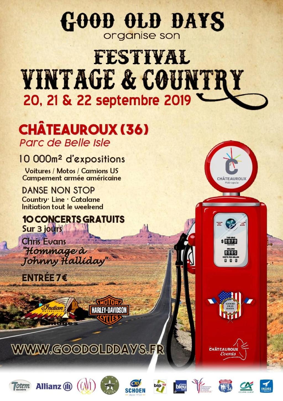 MANIFESTATION - Festival Vintage & Country - 20 - 21 & 22 septembre 2019 - Châteauroux (36) 5c450810