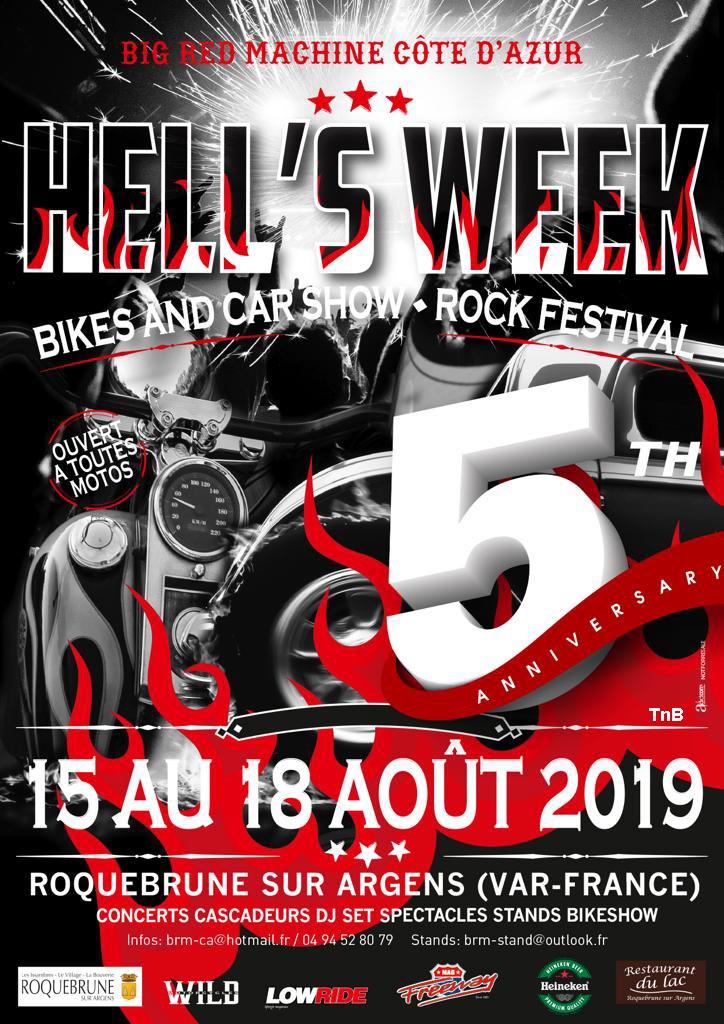 MANIFESTATION -  HELL'S WEEK - du 15 au 18 AOUT 2019 - Roquebrune sur Argens (Var France ) 5c52d911