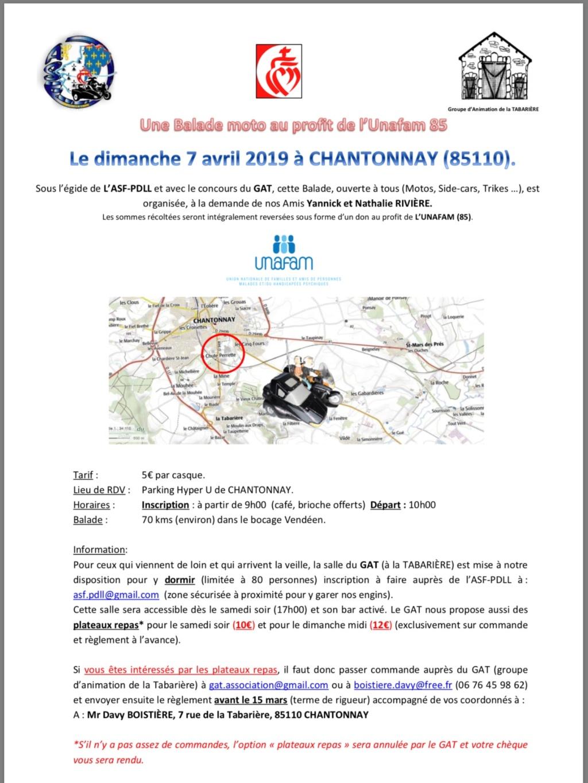 Balade Moto  -Dimanche 7 Avril 2019 - Chantonnay (85110) 5c843310