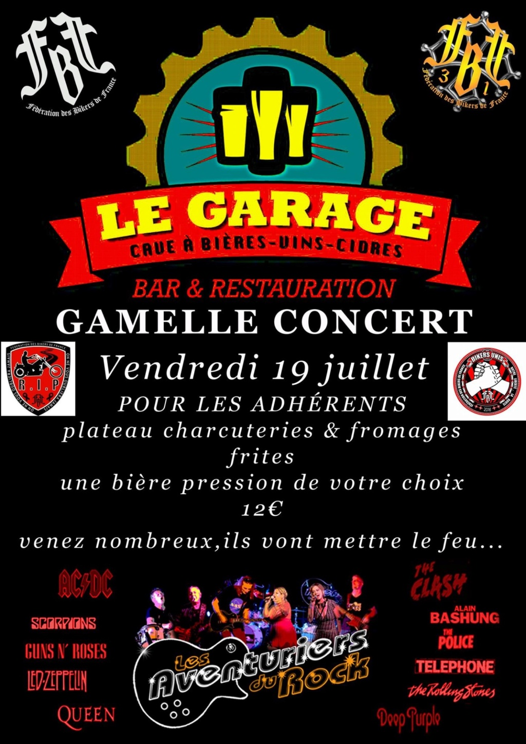 MANIFESTATION - Le Garage - Vendredi 19 Juillet 2019-  Carbonne (31) France  5d0b4e12