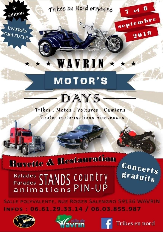 MANIFESTATION - Motor's Days - 7 & 8 Septembre 2019 - Wavrin (59) 5d51a310