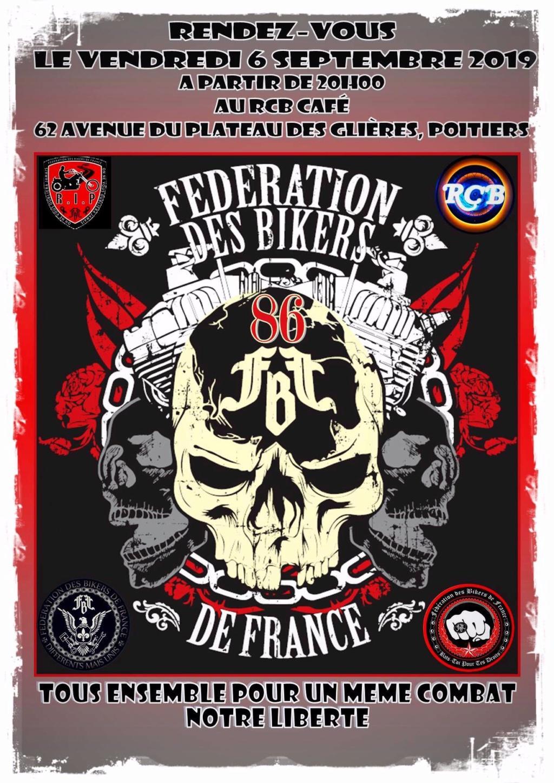MANIFESTATION - Fédèration Des Bikers De France - 6 Septembre 2019 - Poitiers (86) 5d52d910