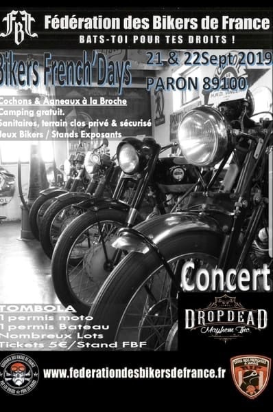 MANIFESTATION - Bikers French'Day - 21 & 22 Septembre 2019 - Paron (89100) 5d7a7010