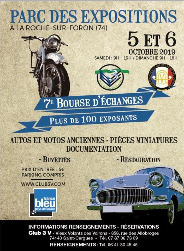 MANIFESTATION - 7ème Bourse D'échanges - 5 & 6 Octobre 2019 - La Roche Sur Foron (74)  5d8e2b10