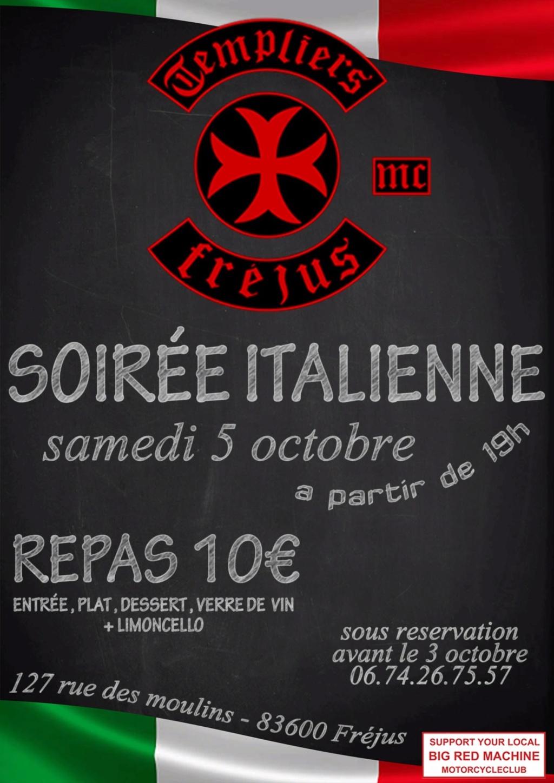MANIFESTATION - Soirée Italienne - Samedi 5 Octobre 2019 - Fréjus (83600) 5d8e3b11
