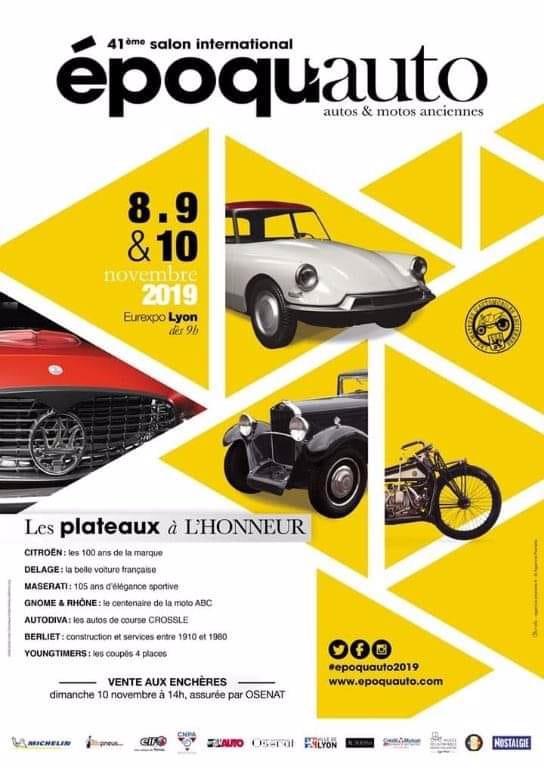 MANIFESTATION - autos & Motos Anciennes - 8-9 -&10 Novembre 2019 - Chassieu (69) 5db16210