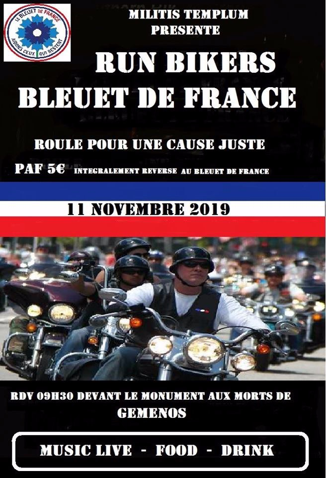 MANIFESTATION - Run Bikers - 11 Novembre 2019 - GEMENOS  (13 )  5db17d10