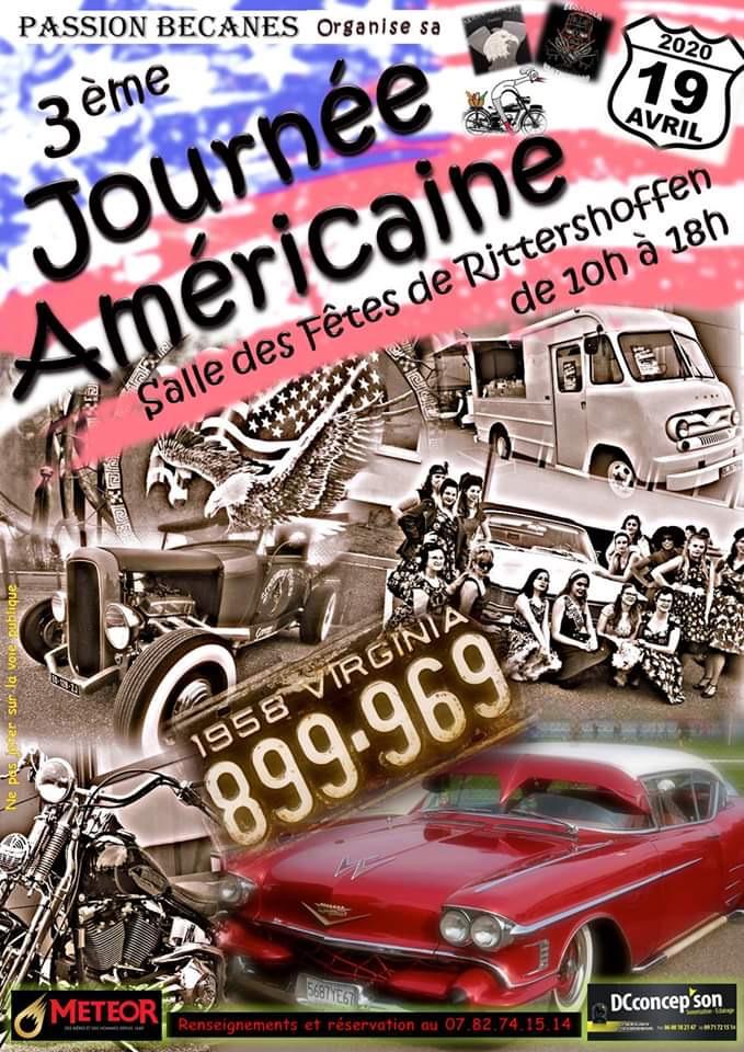 MANIFESTATION - 3ème Journée Américaine - 19 Avril 2020 - Rittershoffen 5df10a10