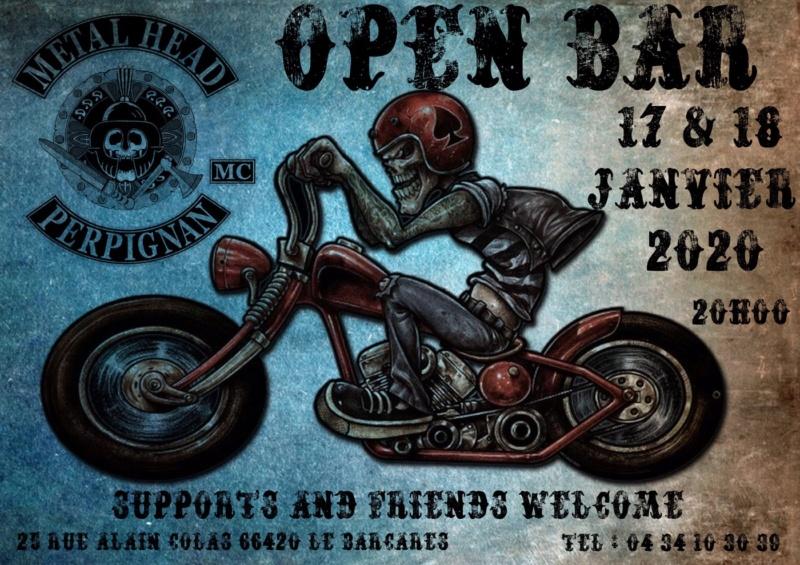 MANIFESTATION  - Open Bar -17 & 18 Janvier 2020 - La Barcares (66420) 5e0e1610
