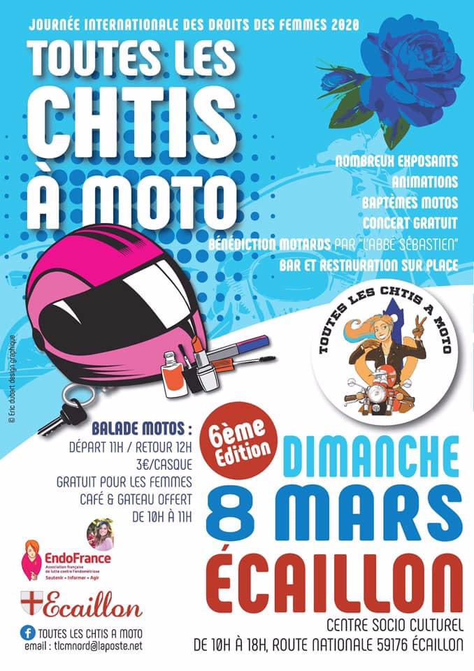 MANIFESTATION - Toutes Les Chtis à Moto - Dimanche 8 Mars 2020 - Ecaillon (59176)  5e1de110