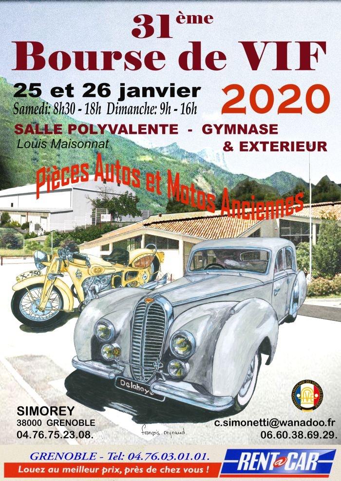 MANIFESTATION - bourse - 25 & 26 Janvier 2020 - VIF - (38000 Grenoble ) 5e1f1610
